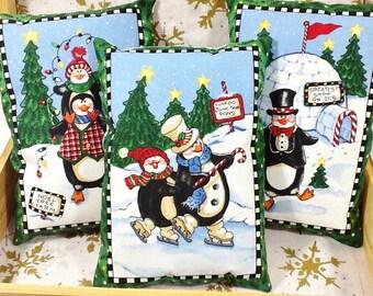 Holiday Nursery Room Decorative Mini Pillow - Christmas Shelf Sitter - Holiday Office Party Decor - Christmas Party Favors - Christmas Gift