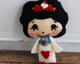 The Queen of Hearts Little Felt Doll