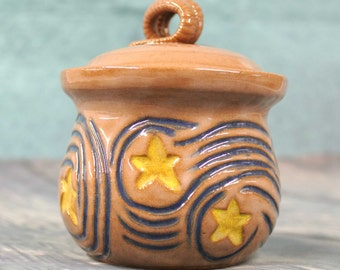 Starry Nights Garlic Keeper