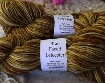 Blue faced Leicester Wool-Brown/tan 501