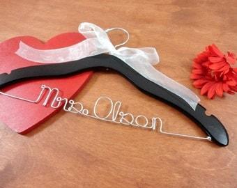 Personalized Hanger - Bride Wedding Hanger - Lab Coat Hanger - Wedding Gown Hanger - Hanger Personalized - Wedding Accessory - Hanger - Gift