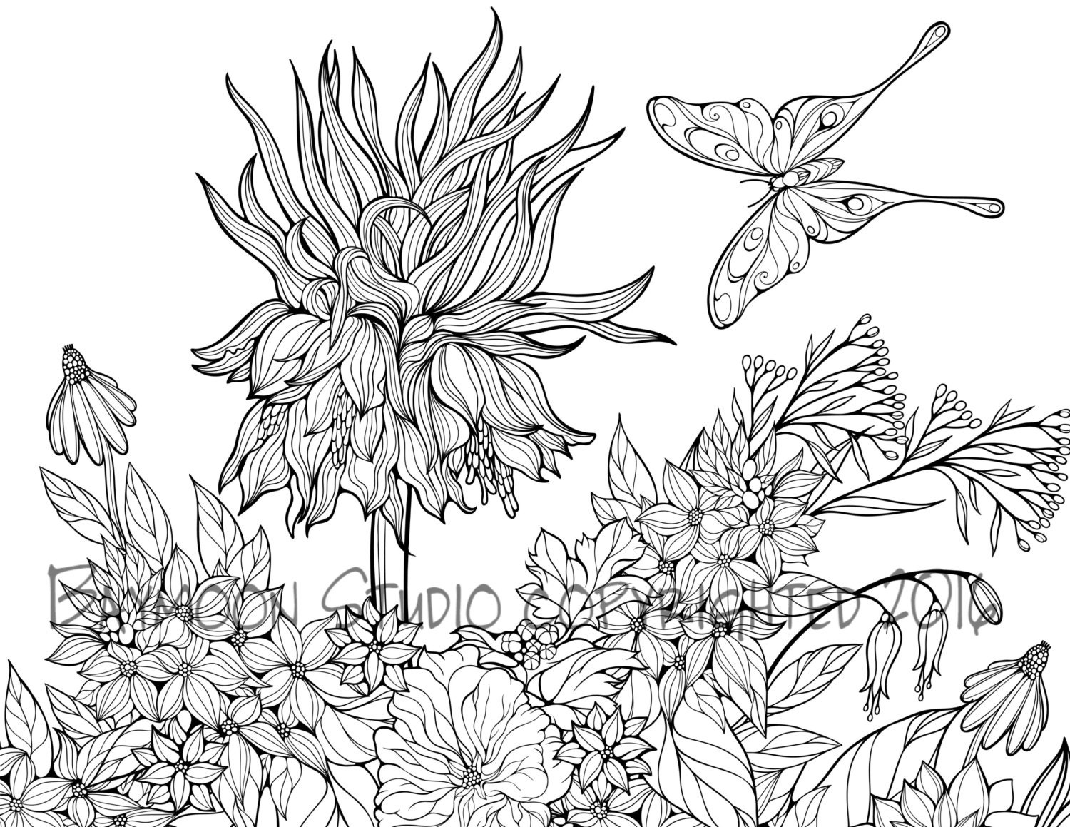 butterfly garden kit coloring pages - photo#13