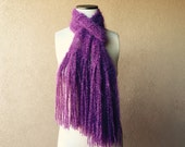 Plum Purple Scarf Women Fashion Scarf Hand Knit Purple Fashion Scarf Accessories Women Scarf