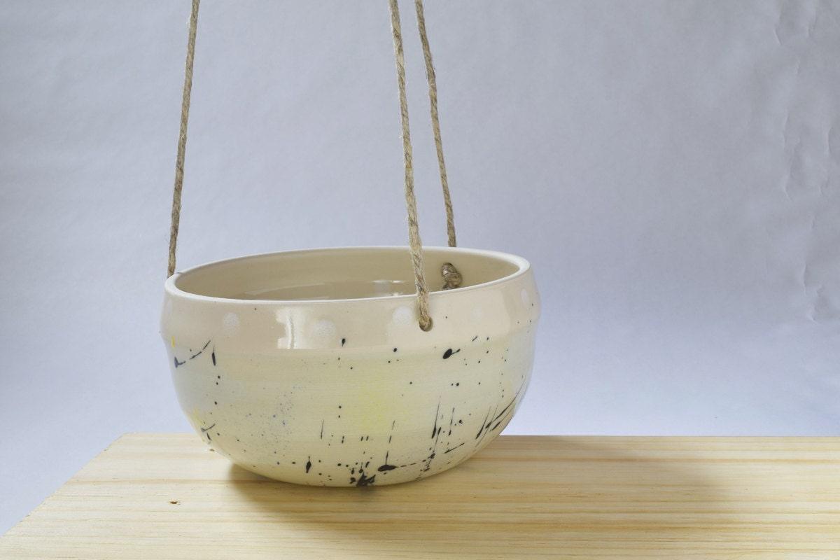 Handmade Ceramic Hanging Planter // Indoor Hanging Planter //