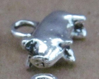 pig sow  charms metal 3d embellishment jewlery findings supplies   quantity 6 charms drw400