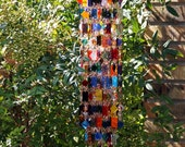 SOLD to Susan Granny's Rag Quilt Unique Wind Chimes - Suncatcher - OOAK Gift For Her, Anniversary, Birthday, Wedding, Housewarming