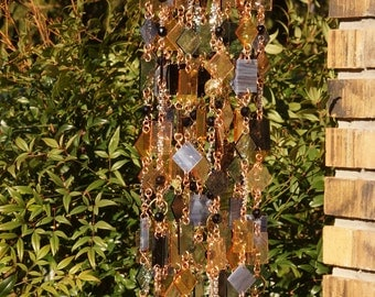 Etoile Noire One-Of-A-Kind, Glass Wind Chimes, Suncatcher, Glass Mobile