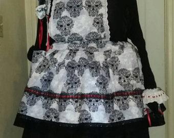 La Bella Morte Pinafored Skirt Set