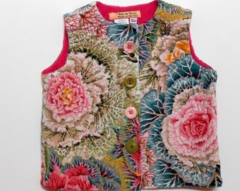 Size 12 mos Baby GIrls Quilted Vest