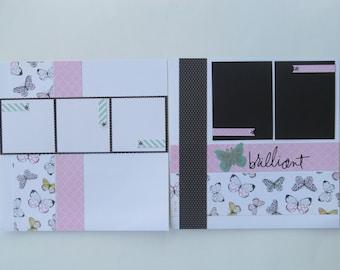 Brilliant 12x12 Scrapbook Layout, Scrapbook Page, Scrapbook Mini Album, Pre-Made Pages, Pre-Made Albums