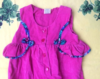 90s Hot Pink Romper 3/6 Months