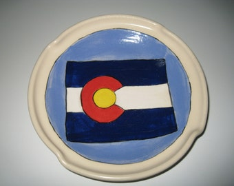 Colorado Flag Plate