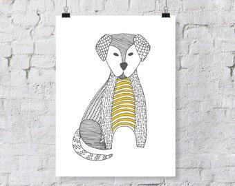 Doodle Labrador – Nursery Art Print