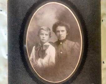 Mother and Son cabinet card vintage photo,antique photo,cabinet card,unknown relatives,old photographs,collage art,