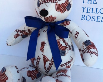 US Flag Bear Handmade