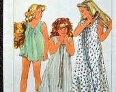 ON SALE Vintage Sewing Pattern Simplicity 6921 Girls' Easy to Sew Night Gowns and Baby Dolls  Size Small Uncut Complete