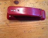 "Made in the USA vintage red metal swingline stapler  5"" long"
