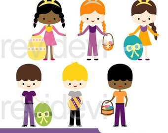 Easter clip art, Easter children, Easter kids clipart, commercial use, instant download Easter clipart