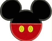 Machine Embroidery Mickey Mouse Applique Design pes dst jef sew hus Auto Download