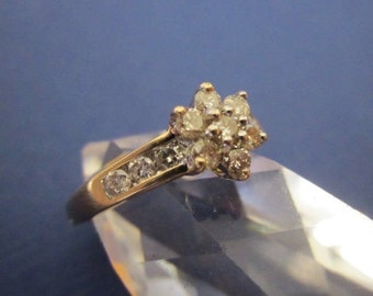10Kt Gold and Diamond Ring size 7 Engagement Promise Ring