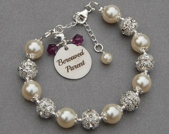 Bereaved Parent Bracelet, Memorial Bracelet, Bereavement Jewelry, Grief Gift, Remembrance Jewelry, Sympathy Gift, Child Loss