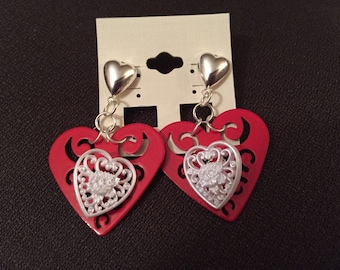 Valentine Button Earrings