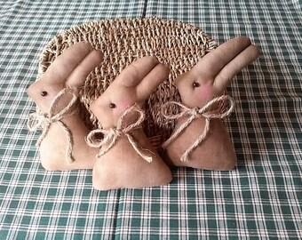 Primitive Bunny Rabbits,Easter Rabbits,Rabbits--- Set of 3