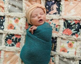 Unicorn Quilt - Unicorn Blanket - Shabby Chic Rag Quilt - Unicorn Bedding - Unicorn Baby Gift - Minky Quilt - Baby Girl Crib Quilt