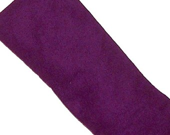Eye Pillow, Eye Mask, Hot Cold Microwave Pack, Purple FLANNEL Fabric - Flaxseed Lavender - READY to SHIP