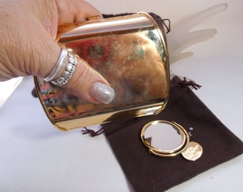 Vintage Judith Lieber Mini Audiere square Purse shell and purse mirror #10