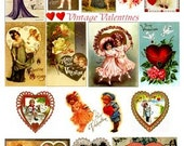 Vintage Victorian Valentines - Valentine Day Images - Digital Collage Sheets - GreatMusings No. 248