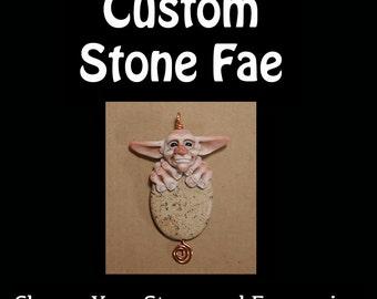 OOaK Polymer Clay Stone Fae Art Doll Custom Listing
