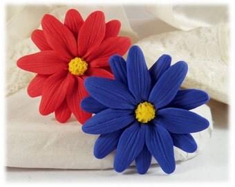 Aster Flower Hair Clip Pin - Aster Daisy Hair Flower