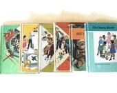 Vintage School Book Set, Vintage Elementary School Book Lot, Vintage 1960's Children's Books, Set of 6 School Books, Nursery Decor