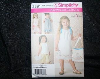 Simplicity 2391 Pillowcase Dress, Top, Pants, Bag Sewing Pattern SEWBUSY12
