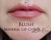 Blush Organic Moisturizing Mineral Lipstick Warm Pinkish Brown Shade High In Shea Butter Creamy Lipstick