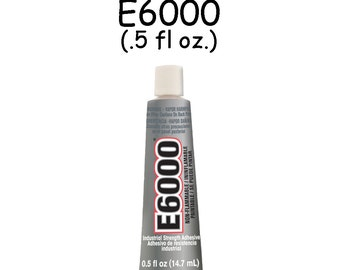 E6000 - .5 oz Jewelry and Craft Adhesive Glue for Cover Buttons, Bottle Caps, Magnets, Glass Pendents, Scrabble Tiles - SEE COUPON