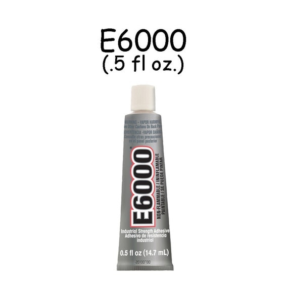 E6000 - .5 oz Jewelry and Craft Adhesive Glue for Cover Buttons, Bottle Caps, Magnets, Glass Pendents, Scrabble Tiles - 10 PERCENT REFUND