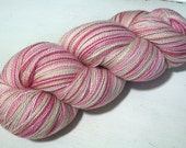 hand dyed yarn - Silky Baby Cash Lace - Boo, You Wh()re colorway