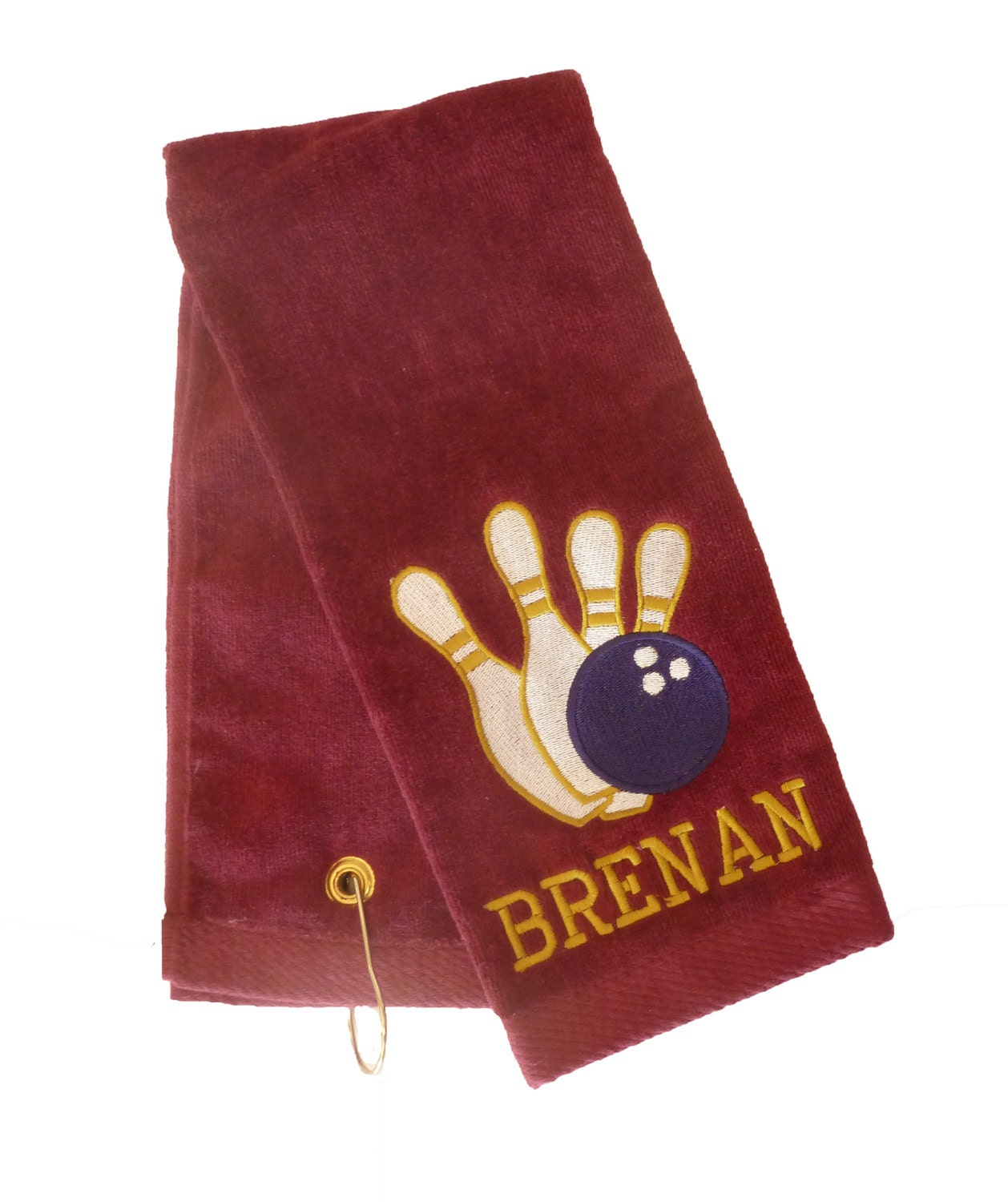 Embroidered And Personalized Sports Towel Soccer Golf