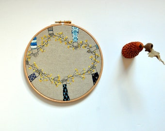 embroidery art wall hanging - The Chain III