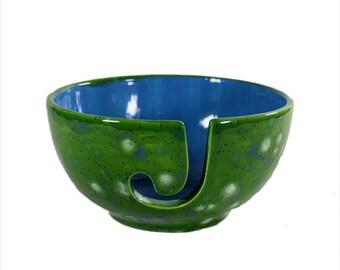 Small Ceramic Yarn Bowl Spotted Kiwi
