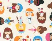 Sport Kids, Girl Fabric, Soccer fabric, Baseball fabric, Ballet fabric, Karate fabric, Ann Kelle, Sports Girls in Park, Choose Your Cut