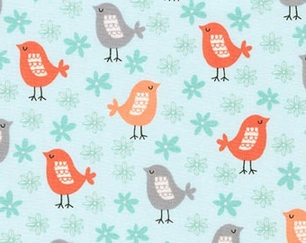 Acorn Forest Fabric, Woodland Animal, Floral Fabric, Acorn Forest Bird Fabric by Robert Kaufman- Choose the cut. Free Shipping Available
