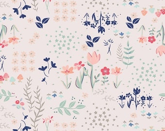 Paperie fabric, Heart fabric, Floral fabric, Book Lover Gift, Paperie fabric by Art Gallery, Cotton Fabric by the Yard, Choose The Cut,