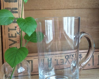GLASS SUPPLIES...Tiffany&Co pint glass - floral display traditional gift ~ home