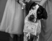 dog ring bearer pillow, wedding ring pillow, ring bearer