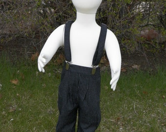 Boy size 5 to 8 suit 3 piece suit Cap, Suspenders Long pants plus optional bowtie or necktie