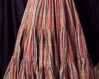 1800s Vintage Deluxe Reproduction Prairie Skirt Steam Punk