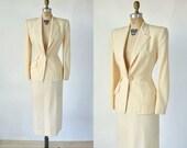 30% OFF 1940s Wedding Suit --- Vintage Cream Womens Suit